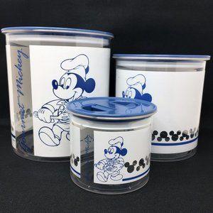 Disney Gourmet Mickey Food Canister Set Vintage